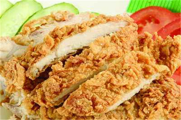 炸鸡汉堡是热销的快捷餐品