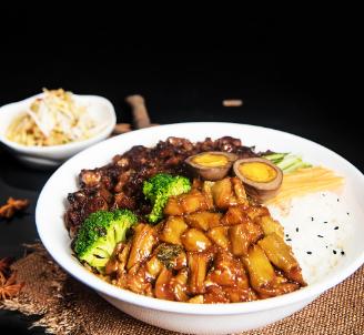 小米卤肉饭
