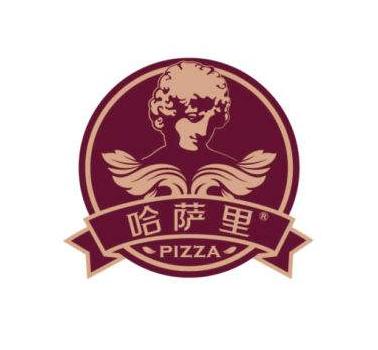 哈萨里手握披萨