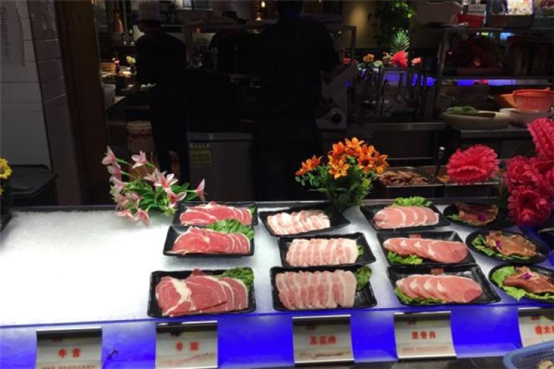 横贯线海鲜烤肉自助餐厅加盟