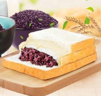 紫米奶酪面包